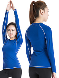 cheap -Heigh Elastic Sports Training PRO Womans Tight Running Breathable Fitness Yoga Sweat Quick-drying T-Shirt