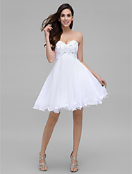 A-Line Sweetheart Knee Length Chiffon Cocktail Party Prom Dress with Beading by TS Couture®