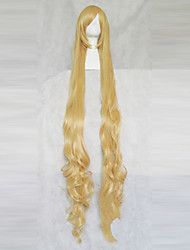 cheap -Cosplay Wigs GOSICK Victorique De Blois Yellow Extra Long / Curly Anime Cosplay Wigs 150 CM Heat Resistant Fiber Female