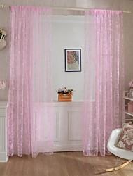 economico -A scorrimento Un pannello Trattamento finestra Paese , Stampa Salotto Tessuto sintetico Materiale tende tende Decorazioni per la casa