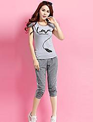 economico -Per donna Taglie forti Blusa Set - Increspato A pieghe, Monocolore Collage