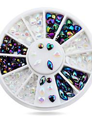 1wheel Heart Design Rhinestone 3d Nail Art Decorations