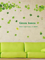 Removable Diy Green Leaves Maple Tree Wall Stickers Art Vinyl Wall Decals Home Decor Mural