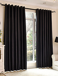 cheap -Blackout Curtains Drapes Bedroom Solid Colored Polyester Print