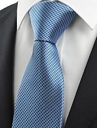 cheap -New Checked Grey Navy Dark Blue JACQUARD Men Tie Necktie Formal Suit Gift KT0008