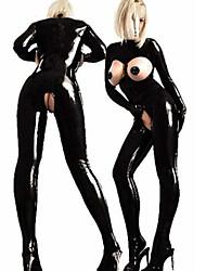 baratos -Mais Fantasias Fantasias de Cosplay Mulheres Carnaval Ano Novo Festival / Celebração Trajes da Noite das Bruxas Roupa Preto Sólido Uniformes Sensuais Mais Uniformes