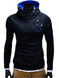 High Quality Summer Men's Side Zipper Long Sleeve Pullover Hoodie & Sweatshirt Solid Casual Sport Coat