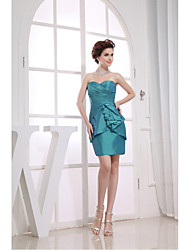 cheap -Sheath / Column Sweetheart Neckline Short / Mini Taffeta Cocktail Party Dress with Side Draping by