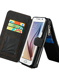 cheap -CASEME 2in1 Genuine Leather Multi-function Zipper Wallet Card Slot Case Cover for Samsung Galaxy S6 edge plus/S7/S7 edge