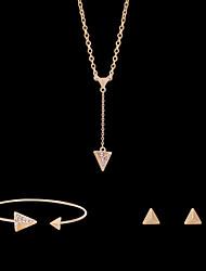 preiswerte -Niedlich / Party-Damen-Halskette / Ohrring / Armband(Rose Gold überzogen / Legierung / Strass)