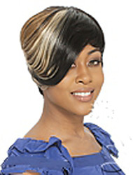 cheap -Synthetic Wig Straight Capless Women's Multi-color Carnival Wig Halloween Wig Black Wig Cosplay Wig Short