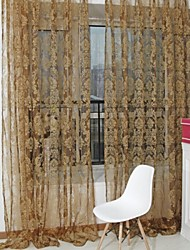 cheap -Sheer Curtains Shades Living Room Polyester Flocking