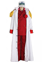 Недорогие -одна часть лисичка ссылка адмирал Akainu морской единой косплей костюм