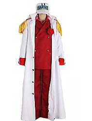 One Piece Foxy ref Admiral Akainu Marine Uniform Cosplay Costume