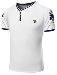 cheap -Men's Sports Boho Cotton T-shirt Print