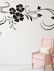 Недорогие -Романтика Мода Цветы Наклейки Простые наклейки Декоративные наклейки на стены, Винил Украшение дома Наклейка на стену Стена