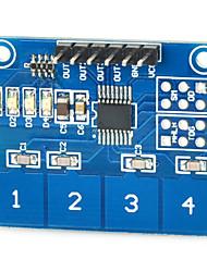 Недорогие -емкостный сенсорный модуль коммутации цифровой ttp224 датчик касания 4-путь для Arduino