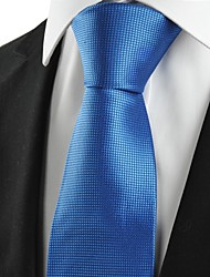 cheap -New Squared Bright Blue Royal Men's Tie Necktie Wedding Party Holiday Gift #1068