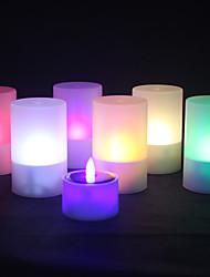 preiswerte -1pc Solarstromfarbwechsel LED Weihnachts Hochzeit Teelicht Teelichtflammenlose flackernde