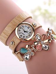 Xu™ Dámské Módní hodinky Náramkové hodinky Křemenný imitace Diamond PU Kapela Květiny Černá Bílá Modrá Červená Orange Hnědá Zelená Béžová