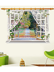 cheap -Botanical / Still Life / Landscape Wall Stickers 3D Wall Stickers,pvc 90*60CM