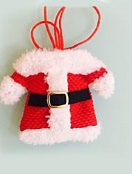 abordables -2 pcs décorations de Noël Happy Santa argenterie poches des détenteurs dîner de festas de décoration