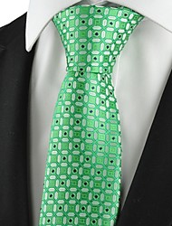 cheap -New Graphic Green Mens Tie Suit Necktie Formal Wedding Party Holiday Gift KT1033