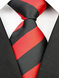preiswerte -Krawatte(Schwarz / Rot,Polyester)Gestreift