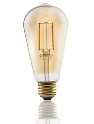 1 pcs GMY E26 2W 2 COB ≥180 lm Warm White ST21 edison Vintage LED Filament Bulbs AC120V 2200K