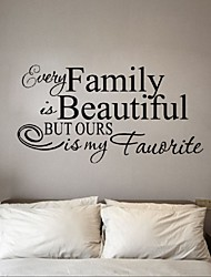 cheap -Stickers Every Family Is Beautiful Wall Sticker Quotes And Sayings Home Decoration Art Living Room