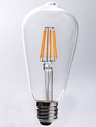 cheap -7W E26/E27 LED Filament Bulbs ST64 8 COB 720 lm Warm White 2700 K Waterproof Decorative AC 220-240 V