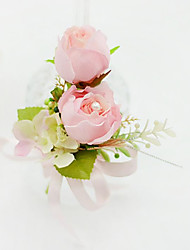 cheap -Wedding Flowers Free-form Roses Boutonnieres Wedding Party/ Evening Cotton