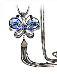 cheap -Women's Crystal Rhinestone Pendant Necklace  -  Vintage Party Work Blue Necklace For Wedding Party Daily