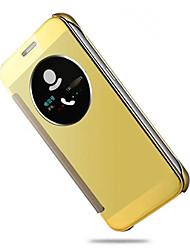 economico -DE JI Custodia Per Samsung Galaxy Samsung Galaxy S7 Edge Con sportello visore / Standby automatico / accendimento automatico / Placcato Integrale Tinta unica PC per S7 edge / S7