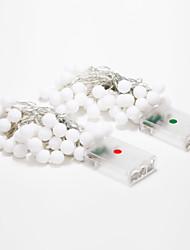 4м 40-водить украшения на открытом воздухе праздник белый / теплый белый свет водить свет шнура (4.5V)