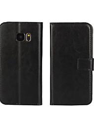 economico -Custodia Per Samsung Galaxy Samsung Galaxy Custodia A portafoglio / Porta-carte di credito / Con supporto Integrale Tinta unita pelle sintetica per S7 edge / S7 / S6 edge