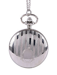 Men's Pocket Watch Quartz Alloy Band Silver