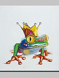 Dipinta a mano Astratto / Animali / Cartoni animati / POPModern Un Pannello Tela Hang-Dipinto ad olio For Decorazioni per la casa
