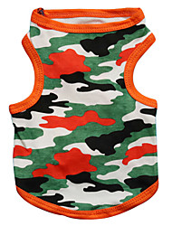 preiswerte -Katze Hund T-shirt Hundekleidung camuflaje Schwarz Orange Baumwolle Kostüm Für Haustiere Herrn Damen Modisch