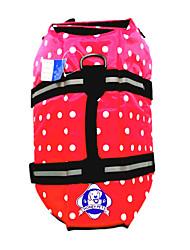 preiswerte -Hund Weste / Schwimmweste Hundekleidung Punkt Rot / Blau Nylon Kostüm Für Haustiere Sommer Herrn / Damen Wasserdicht