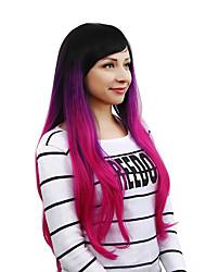 Donna Parrucche sintetiche Ondulato naturale Arcobaleno Con frangia costumi parrucche