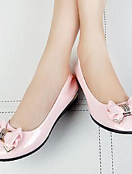 Women's Shoes Bowknot Slip On Sweet Pump Flat Heel Comfort / Pointed Toe Flats Outdoor / Casual