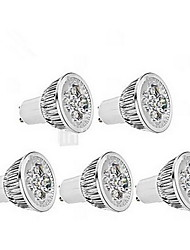 cheap -5W GU10 LED Spotlight MR16 1 leds Dimmable Cold White 400-450lm 6000-6500K AC 220-240V