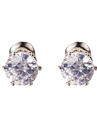 18k Gold AAA Zircon Hoop Stud Earrings JewelryImitation Diamond Birthstone