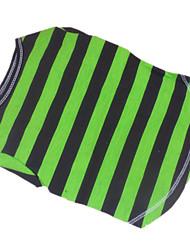 Cachorro Camiseta Roupas para Cães Respirável Riscas Azul/Verde Ocasiões Especiais Para animais de estimação