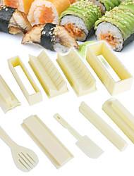 Недорогие -1 компл. Простой в использовании diy суши производитель риса плесень кухня суши решений набор инструментов для суши ролл кухонные принадлежности инструмент для приготовления пищи