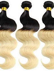 povoljno -Brazilska kosa Tijelo Wave / Klasika Virgin kosa Ombre 3 paketa Isprepliće ljudske kose