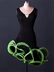 abordables -la danse latine habille la robe drapée spandex de performance des femmes par shall we®