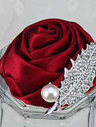 preiswerte -Hochzeitsblumen Knopflochblumen Hochzeit Party / Abend Strass Polyester Satin Schaum 6 cm ca.