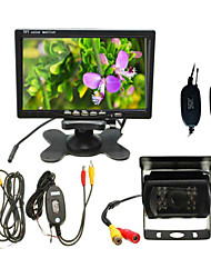 Car Rear View Camera 7-Inch Desktop Monitor + Wireless Bus Camera